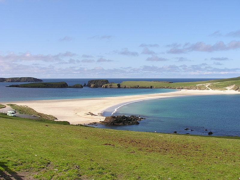 The tombolo to St.Ninian's Isle, Shetland