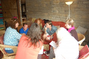 It was a big group, so we often broke into small groups for sharing