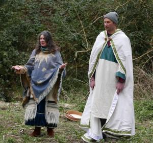 Luke & Deidre at the grove inauguration on Ticky's Island, Huntington Castle