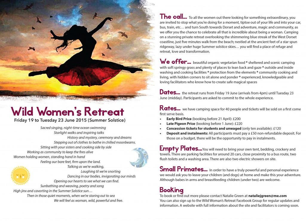 wild wolman's retreat flyer